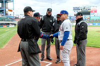 Coaches exchange lineup cards