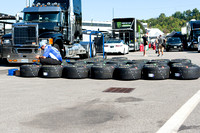 Gathering tires for the race