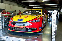 The 22 car of Joey Logano during the inspection process
